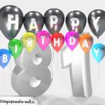 Geburtstagskarte für 81. Geburtstag
