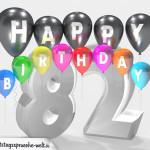 Geburtstagskarte für 82. Geburtstag