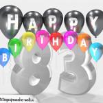 Geburtstagskarte für 83. Geburtstag