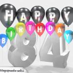 Geburtstagskarte für 84. Geburtstag