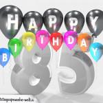 Geburtstagskarte für 85. Geburtstag