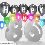 Geburtstagskarte für 86. Geburtstag