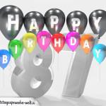 Geburtstagskarte für 87. Geburtstag
