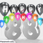 Geburtstagskarte für 88. Geburtstag