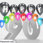 Geburtstagskarte für 90. Geburtstag