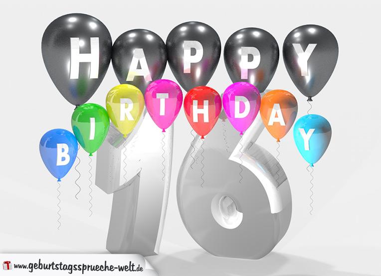 Gluckwunsch 16 Geburtstag