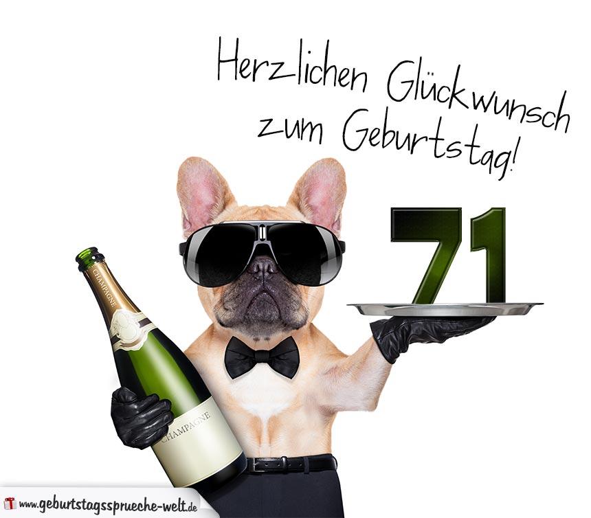 71. Geburtstag Geburtstagssprüche