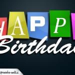 Happy Bithday Geburtstagskarte mit Alter als Kalenderblatt