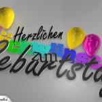 Herzlichen Glückwunsch zum Geburtstag als Bild zum Versenden