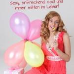 Geburtstagskarte für Frauen mit Luftballons