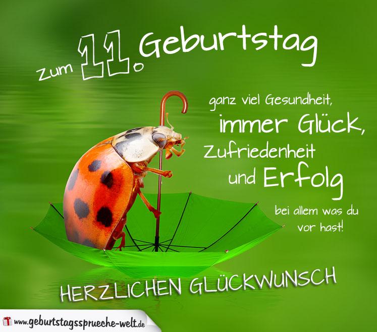 11. Geburtstag Karte Herzlichen Glu00fcckwunsch ...
