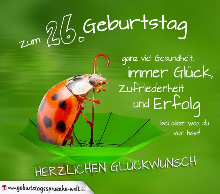 26. Geburtstag Karte Herzlichen Glückwunsch - Geburtstagssprüche ...