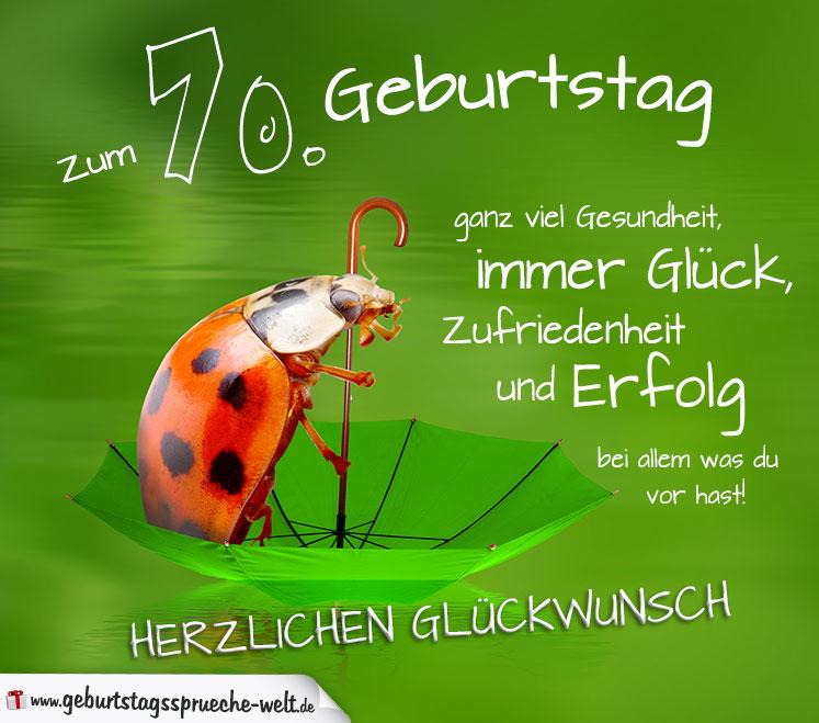 70. Geburtstag Karte Herzlichen Glückwunsch - Geburtstagssprüche ...