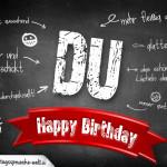 Coole Geburtstagskarte mit Komplimenten für jedes Alter