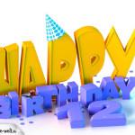 12. Geburtstag Happy Birthday