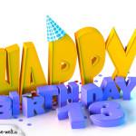 13. Geburtstag Happy Birthday