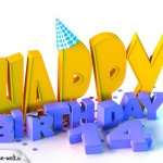 14. Geburtstag Happy Birthday