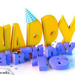 16. Geburtstag Happy Birthday