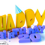 20. Geburtstag Happy Birthday