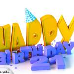 21. Geburtstag Happy Birthday