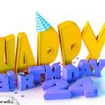 24. Geburtstag Happy Birthday