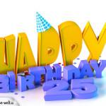25. Geburtstag Happy Birthday