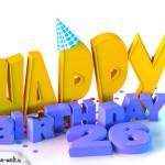 26. Geburtstag Happy Birthday