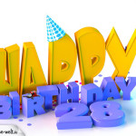 28. Geburtstag Happy Birthday