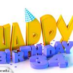 34. Geburtstag Happy Birthday