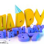 37. Geburtstag Happy Birthday