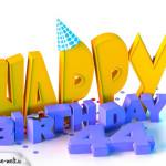 44. Geburtstag Happy Birthday