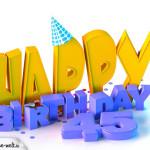 45. Geburtstag Happy Birthday