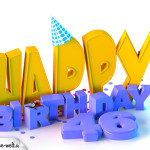 46. Geburtstag Happy Birthday