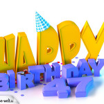 47. Geburtstag Happy Birthday