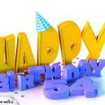54. Geburtstag Happy Birthday