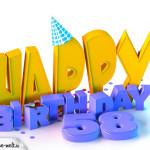 58. Geburtstag Happy Birthday
