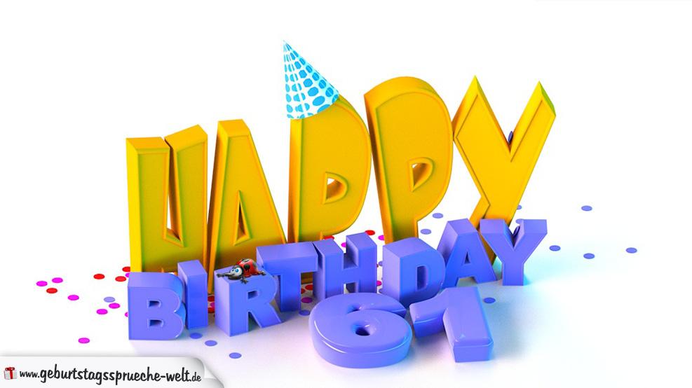 Geburtstagsspruche zum 61