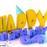 64. Geburtstag Happy Birthday