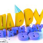 66. Geburtstag Happy Birthday