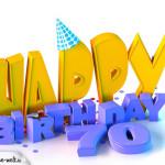 70. Geburtstag Happy Birthday