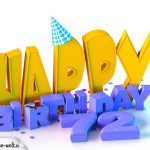 72. Geburtstag Happy Birthday