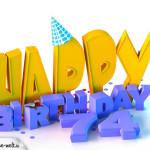 74. Geburtstag Happy Birthday