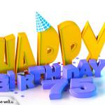 75. Geburtstag Happy Birthday