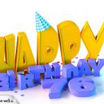 76. Geburtstag Happy Birthday