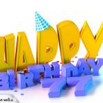 77. Geburtstag Happy Birthday