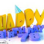 78. Geburtstag Happy Birthday