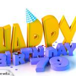 79. Geburtstag Happy Birthday