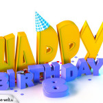8. Geburtstag Happy Birthday