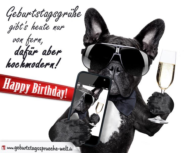 Geburtstagsgrüße hochmodern mit Hund Geburtstagskarten