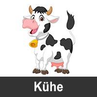 Geburtstagskarten mit Kühen als Motiv